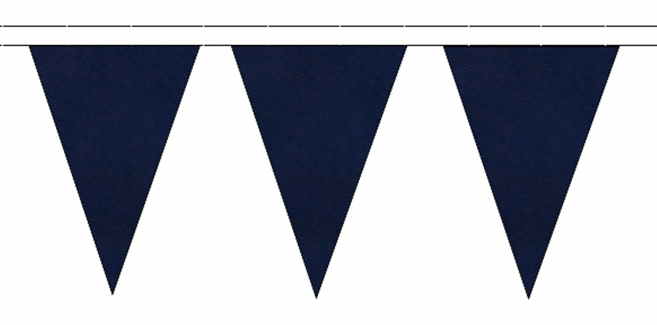 Bleu Marine Triangulaire Banderole Drapeaux Drapeaux Banderole 20m avec 48 Drapeaux 79c463