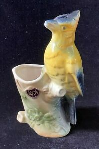 Vintage Royal Copley Yellow Bird Planter