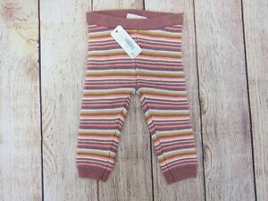 Gymboree-Girl-039-s-Stripe-Knit-Leggings-6-12-Months-Pink-Multi-NWT