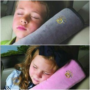 Car Pillow Neck Seat Headrest Toddler Kid Belt Travel
