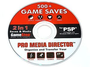 Details about GameStop Pro Media Director: 500+ Game Saves for Sony PSP  PlayStation Portable