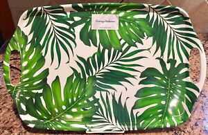 Tommy Bahama Tropical Palm Leaves Leaf Melamine Serving