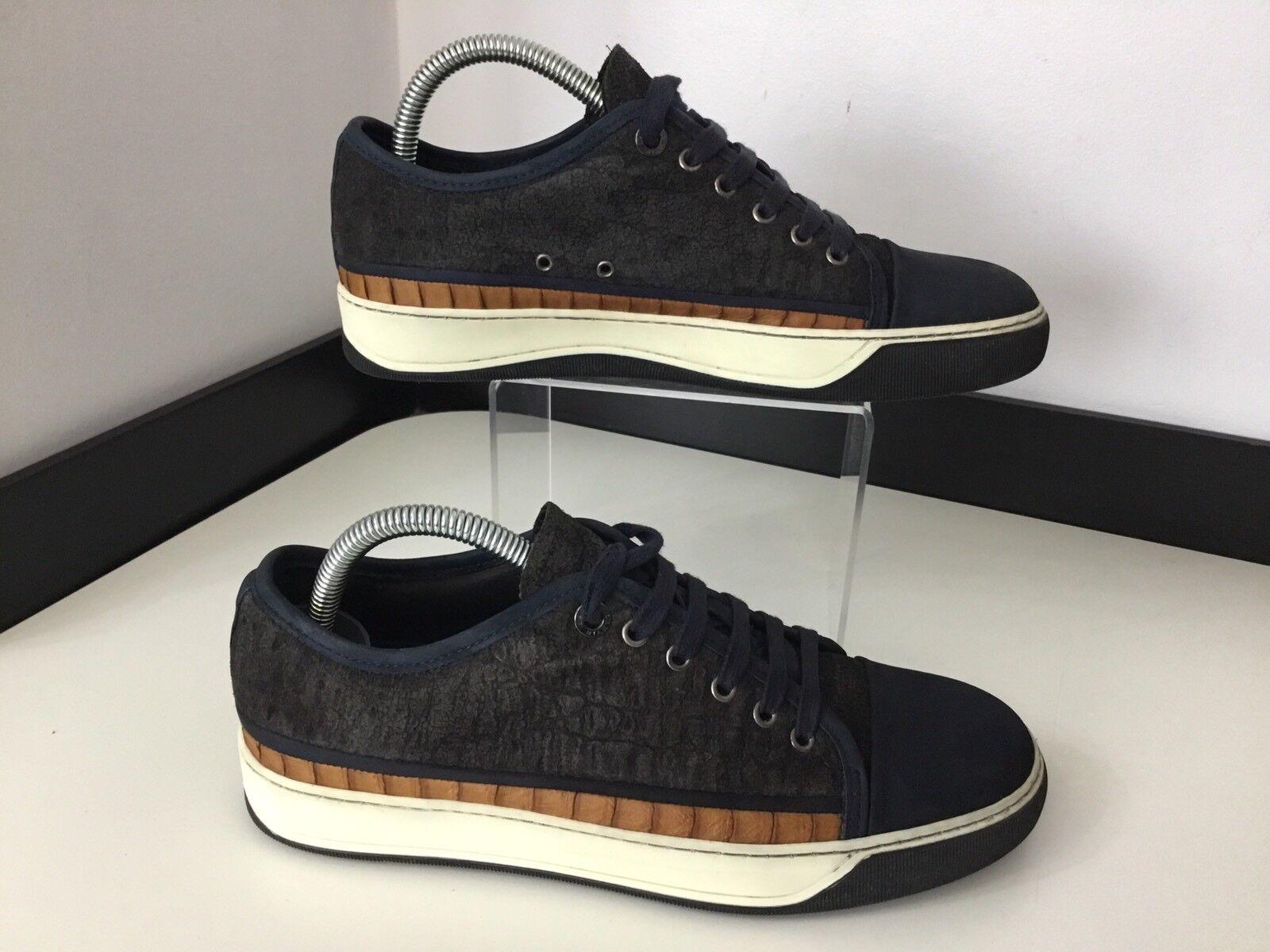 Zapatillas Para Hombre Lanvin, Zapatos, Reino Unido 5 Eu39, azul marino, marrón de piel de cocodrilo en muy buena condición