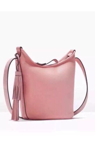 et ᄄᄂ Powder Sac Bnwt cuir vᄄᆭritable Zara Pink en daim main xQrtCshdB
