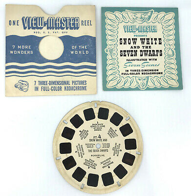 Vintage Gaf Little Red Riding Hood and More View Master Picture Reel 1960