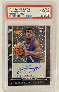 ROOKIE! 2015-16 Panini Prizm Auto D'Angelo Russell RC! PSA 10 Gem 🔥