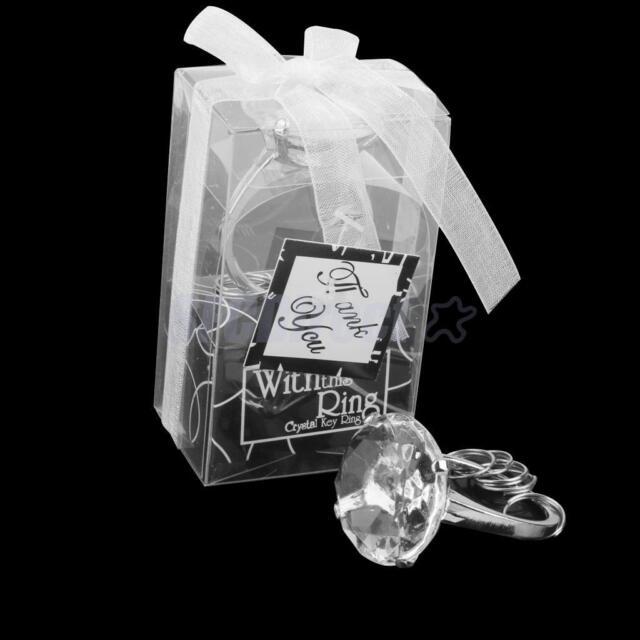 Clear Crystal Diamond Napkin Ring Wedding Favors