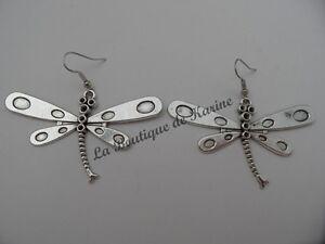 bijoux fantaisie Boucles d/'oreilles très joli strass métal argenté PAPILLON