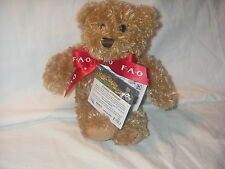 FAO SCHWARZ 8 INCH PLUSH BEAR EXCLUSIVE KINECTIMALS NEW WITH TAG & FAO RIBBON