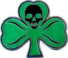 Green Clover LEAF with SKULL Belt Buckle