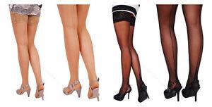 "Ladies Back Seamed Cuban Heel Tights /""Chiara/"" 20 Den by Gatta Size S//M//L"