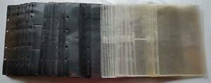 Philswiss Cases Album Sheets 1,2, 3 Stripes Black 66 Piece And 50 Piece Clear