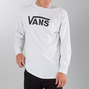3d643450b881 Image is loading VANS-CLASSIC-LONG-SLEEVE-T-SHIRT-ASH-HEATHER-