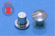 Steel Zinc Oval Head Solid Rivets 18x716 Ohsr180716 100pcs