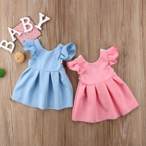 Baby Mädchen Kind Prinzessin Kleid Kind Ball Abschlussball Kleid Party Somm I7E1