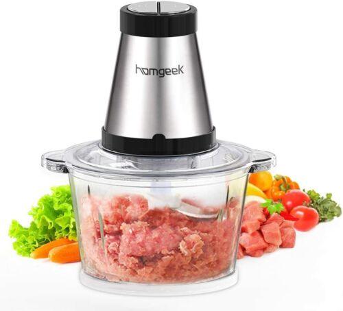 Mini Kitchen Chopper Food Processor 2L Meat Grinder 500W