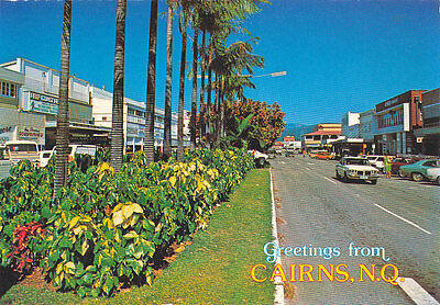 CAIRNS, Q. . Postcard of  SHIELDS Street.  C Late 60's.