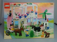 LEGO® Stadt Bauanleitung Paradisa 6418 Reiterhof ungelocht BA Anleitung