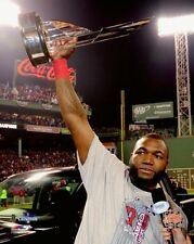 2013 World Series DAVID ORTIZ w/ MVP trophy Boston Red Sox LICENSED 8x10 photo