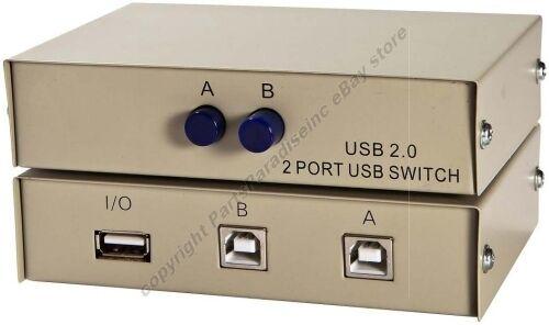 USB 2.0 AB 2way//port manual switch box data//printer//hub sharing 2B 1A $SHdisc{T