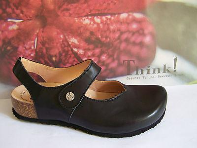 leichtes Fußbett für Mittelalter! Think shoes Julia Farbe schwarz 1 x Klett