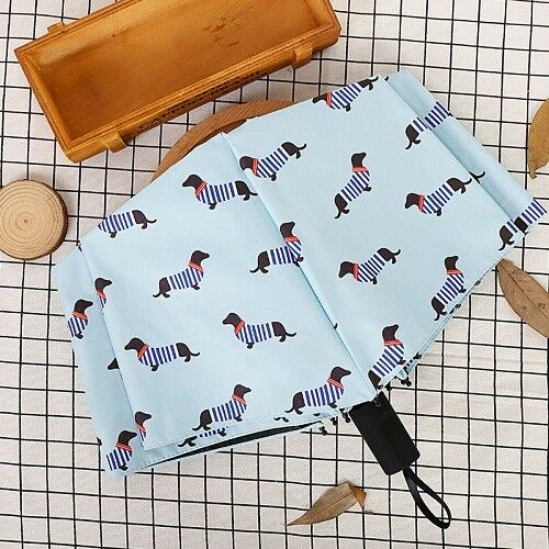 Dachshund dog foldable umbrella 2 colours