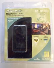 LEVITON DECORA VZM10-1LW VIZIA 1000-WATT INCANDESCENT / LOW VOLTAGE DIMMER BLK