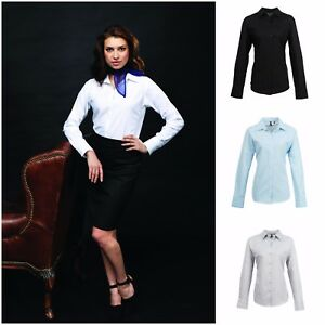 Ladies-Womens-Long-Sleeve-Blouse-Shirt-Business-Work-Top-Size-8-26