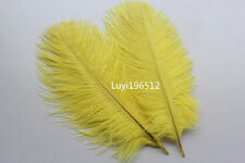 5pcs Yellow High quality ostrich feathers wedding party 8-10inch / 20-25cm