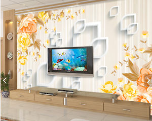 3D Blossom 4021 Wallpaper Murals Wall Print Wallpaper Mural AJ WALL UK Carly