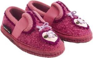 Spirited Haflinger Herz Azalee Pantofole Bambina Lana Bimba Cuore Rosa Cuori Scarpine Be Friendly In Use Baby & Toddler Clothing