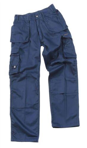 Mens Pro Work Multi Pocket Trouser Adults Cargo Style Work Wear Knee pad Pants