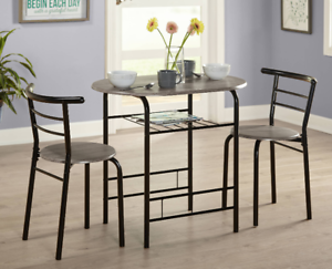 Breakfast Bistro Set Pub Metal 3 Piece Dining Room Table Chair Kitchen Furniture 707897326076 Ebay