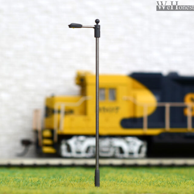 10 pcs OO/HO Scale Lamp LEDs made Model Lamppost height adjustable Light #SD100S