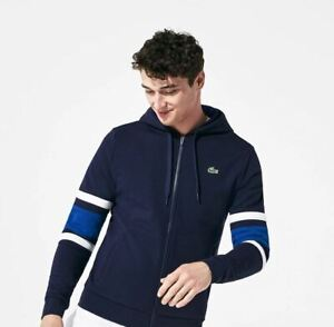 Men-039-s-NWT-Lacoste-Colorblock-Full-Zip-Hoodie-Size-L-195