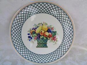 Image is loading Villeroy-And-Boch-Basket-Flat-Cake-Plate-No- & Villeroy And Boch Basket Flat Cake Plate No Rim   eBay
