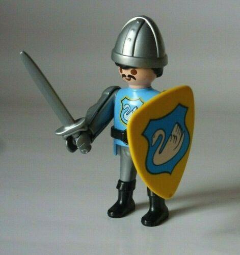 Playmobil Ritter Schwanenritter blau Schild Wappen Figur Ritterburg 316