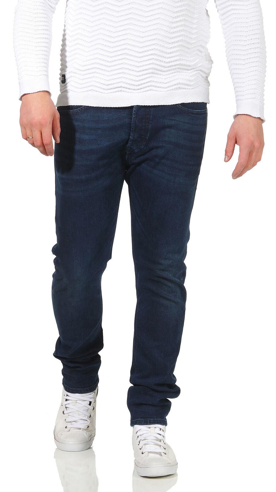 Diesel Jeans Tepphar 084ZC Men's Stretch Slim Carred Skinny Jeans Dark bluee