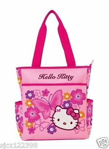 d57278328b5 Sanrio Hello Kitty Pink Butterfly Tote Bag 4901770390369   eBay