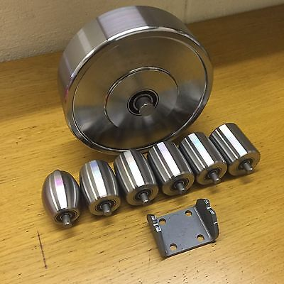 76.2mm Top And Bottom English Wheel Rollers, Anvils, Includes a Cradle