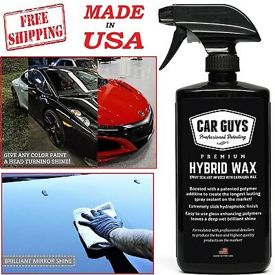 Car Wash Spray Wax Sealant Deep Carnauba Paint Glass Polish Shine