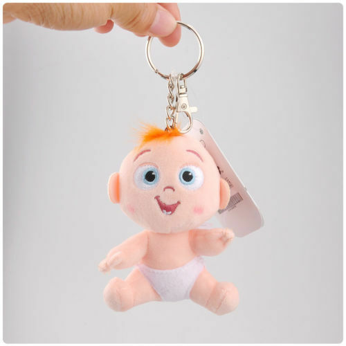The Incredibles 2 Baby Jack Jack Plush Toy Keyring Soft Stuffed Doll Keychain