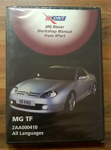 mgtf genuine cd rom x part workshop manual part number zaa000410 nos rh ebay co uk mg tf 135 manual mg tf manual haynes