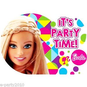 Detalles De Invitaciones Barbie Sparkle 8 Fuentes De Fiesta De Cumpleaños Tarjetas De Papelería Notas Ver Título Original