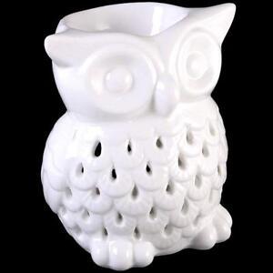 White-Owl-Ceramic-Oil-Burner-Yankee-Candle-Tart-Wax-Melt-Aromatherapy-Free-PP