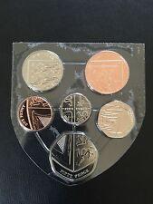 2016 Royal Mint Definitive BUNC 6 Coin Set 1p-50p Royal Shield Of Arms RARE 50p