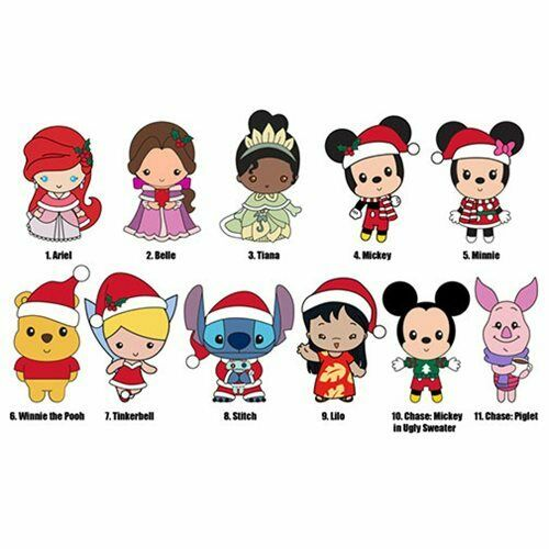 Blind Bag Key Chain Winnie the Pooh Disney Christmas NEW Chase Piglet Clip