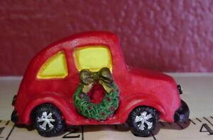 Christmas-Victorian-Village-Red-Coupe-Car-Grandeur-Noel-Miniature-Decoratives