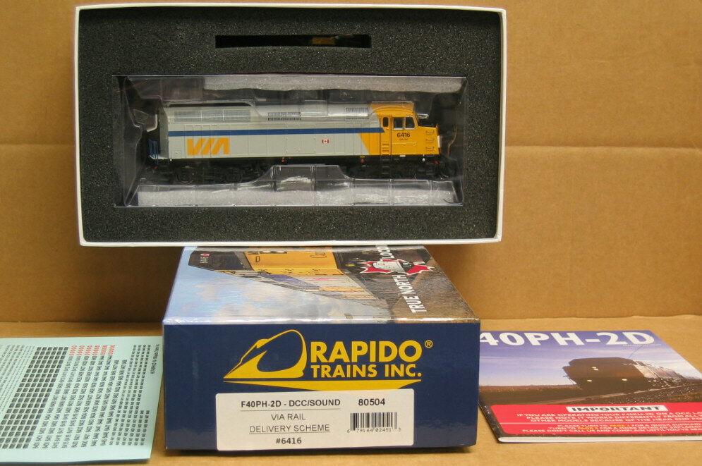Rapido 80505 Ho esquema de entrega por ferrocarriles F40PH-2D DCC sonido