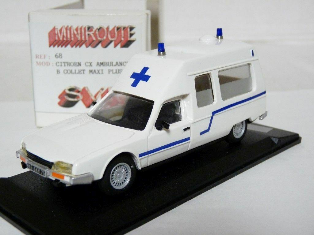 MINIROUTE 68 1 43 CITROEN CX ambulance Handmade Résine Voiture Modèle